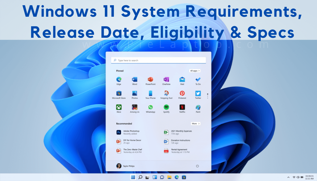 Windows 11 System Requirements, Release Date, Eligibility & Specs